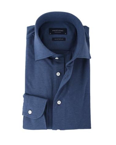 Profuomo Knitted Overhemd Blauw  online bestellen | Suitable