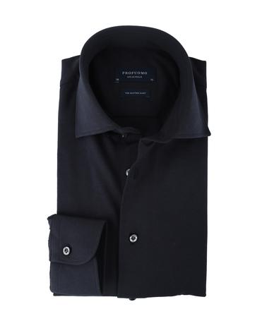 Profuomo Knitted Overhemd Donkerblauw  online bestellen | Suitable