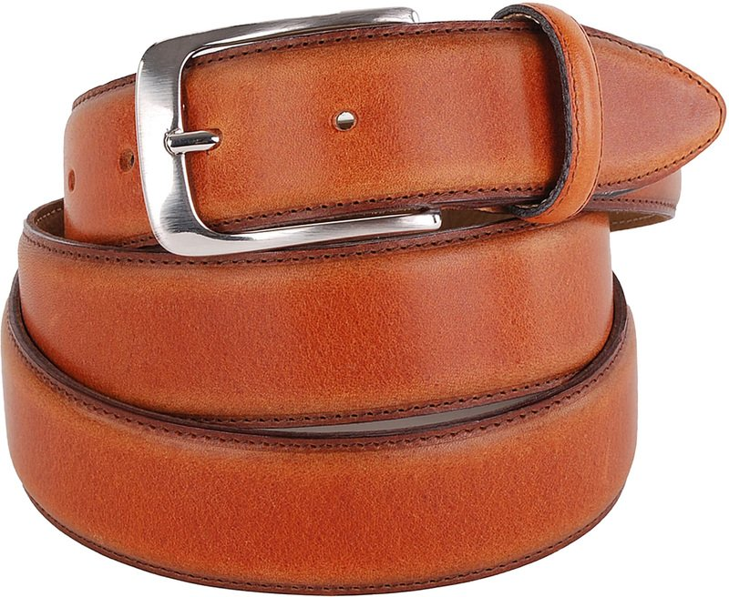 Profuomo Leather Belt Polosh Cognac
