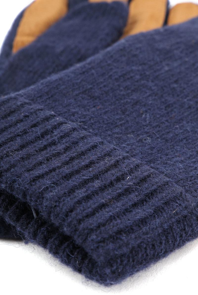 Profuomo Leather Gloves Navy photo 1