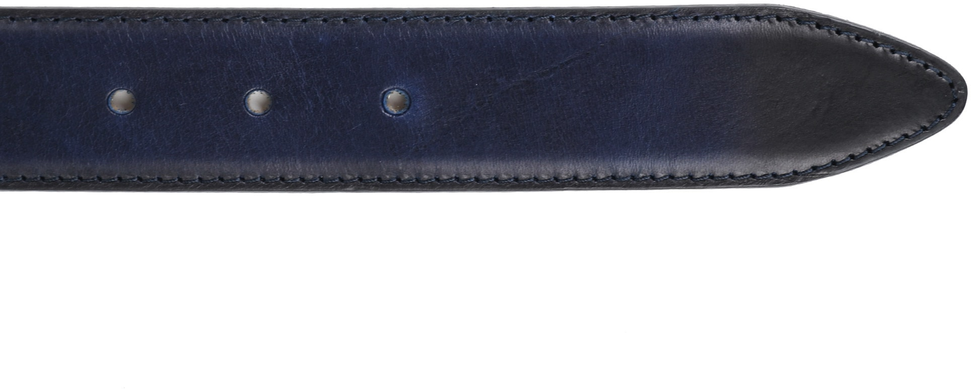 Profuomo Leather Navy Belt  photo 2