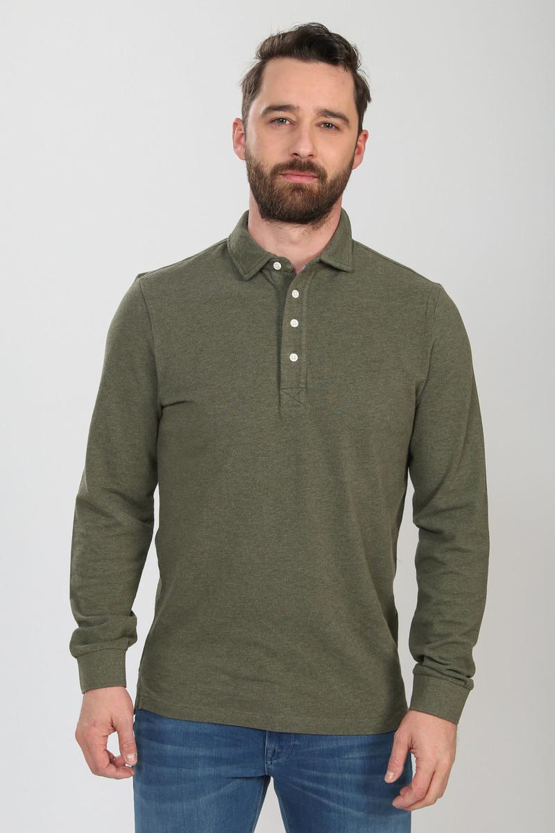 Profuomo Long Sleeve Polo Groen
