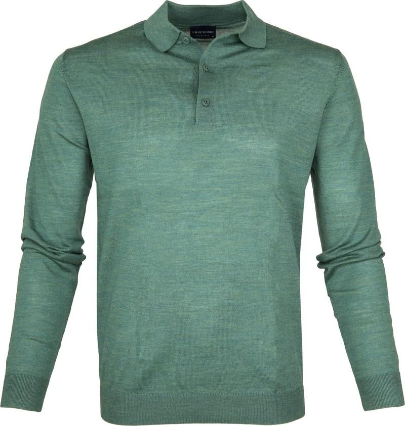 Profuomo Longsleeve Poloshirt Green photo 0