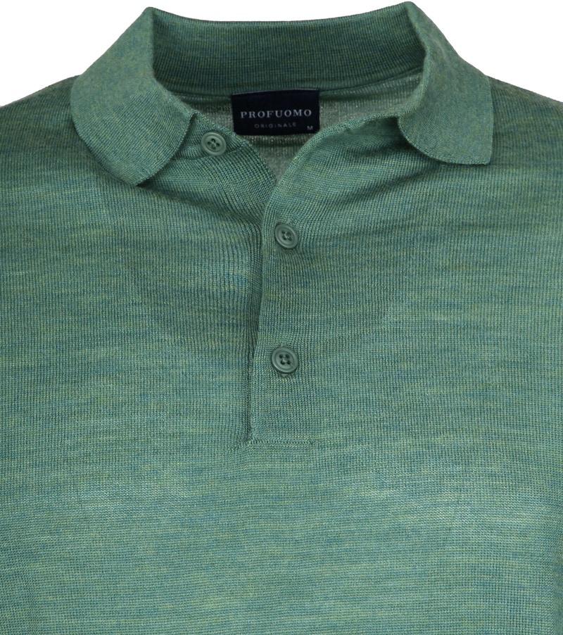 Profuomo Longsleeve Poloshirt Green photo 1