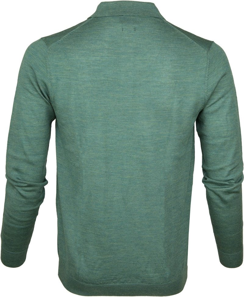 Profuomo Longsleeve Poloshirt Green photo 3