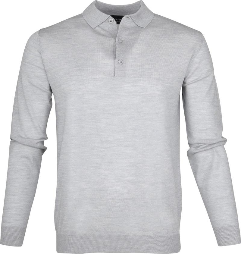 Profuomo Longsleeve Poloshirt Grey photo 0