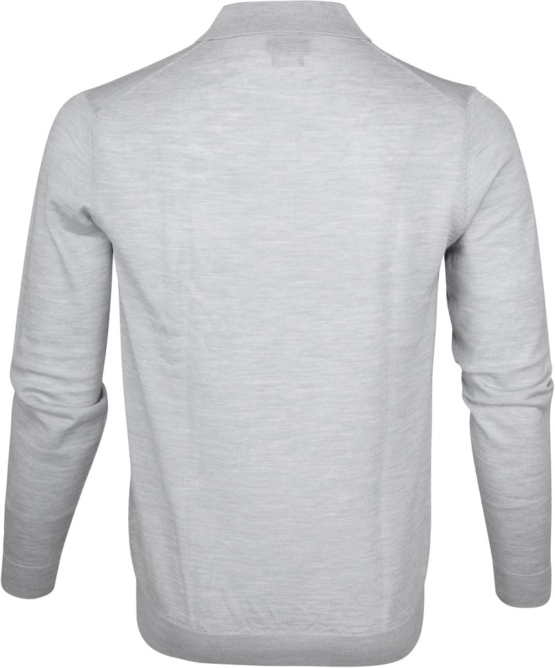 Profuomo Longsleeve Poloshirt Grey photo 3