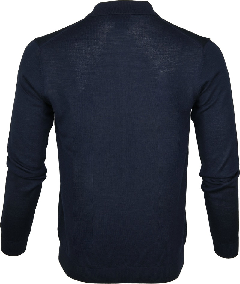 Profuomo Longsleeve Poloshirt Navy photo 3
