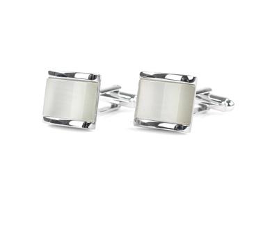 Profuomo Manchetknopen Zilver Wit  online bestellen | Suitable