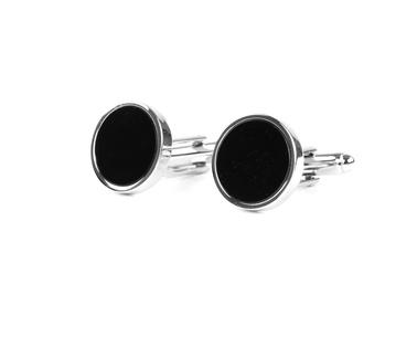 Profuomo Manchetknopen Zilver Zwart  online bestellen | Suitable