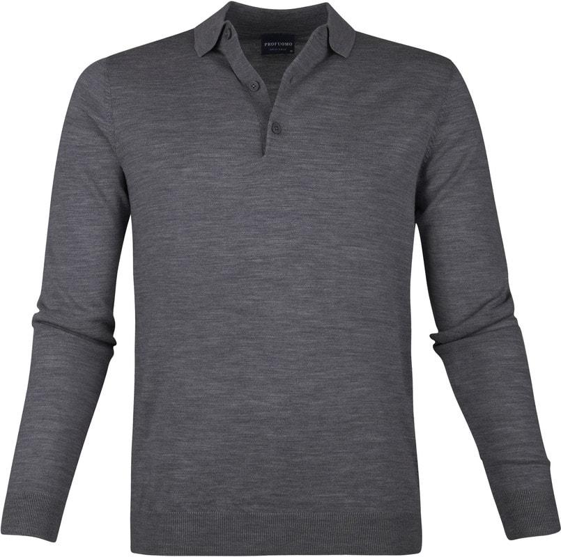 Profuomo Merino Poloshirt Dark Grey photo 0