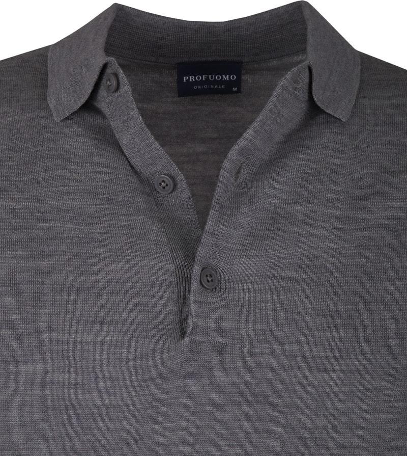 Profuomo Merino Poloshirt Dark Grey photo 1