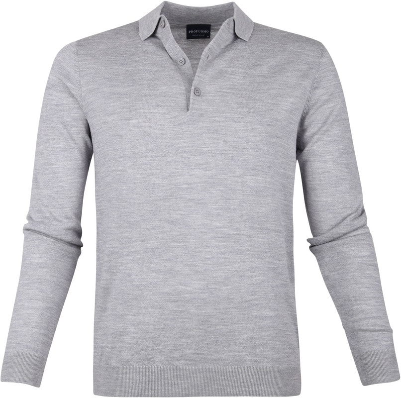 Profuomo Merino Poloshirt Grey photo 0