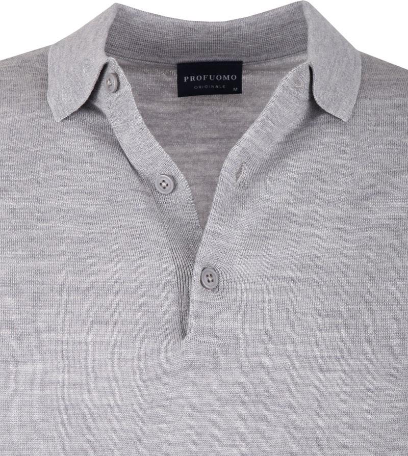 Profuomo Merino Poloshirt Grey photo 1