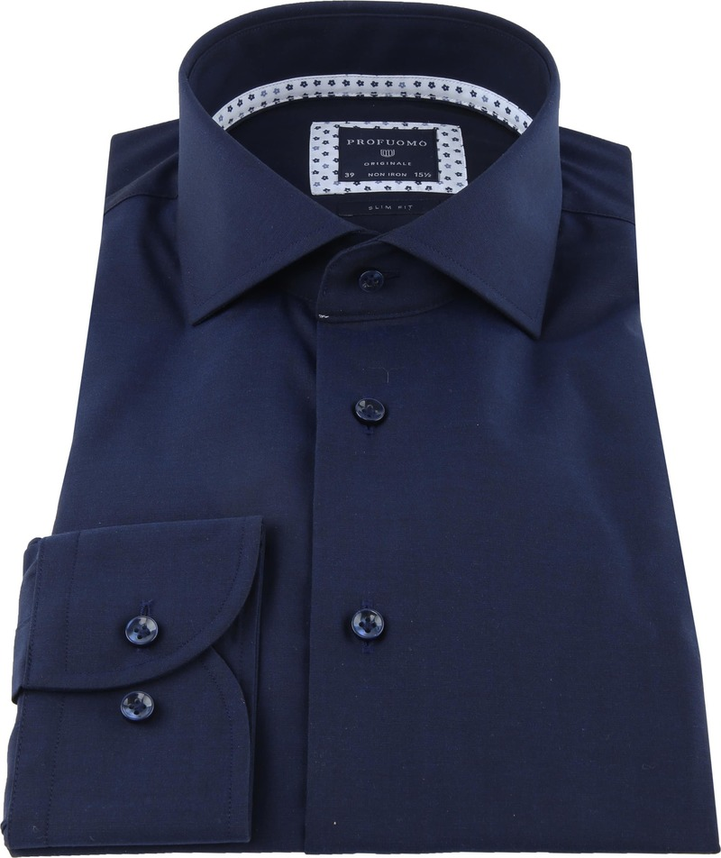 Profuomo Originale Overhemd Donkerblauw foto 2