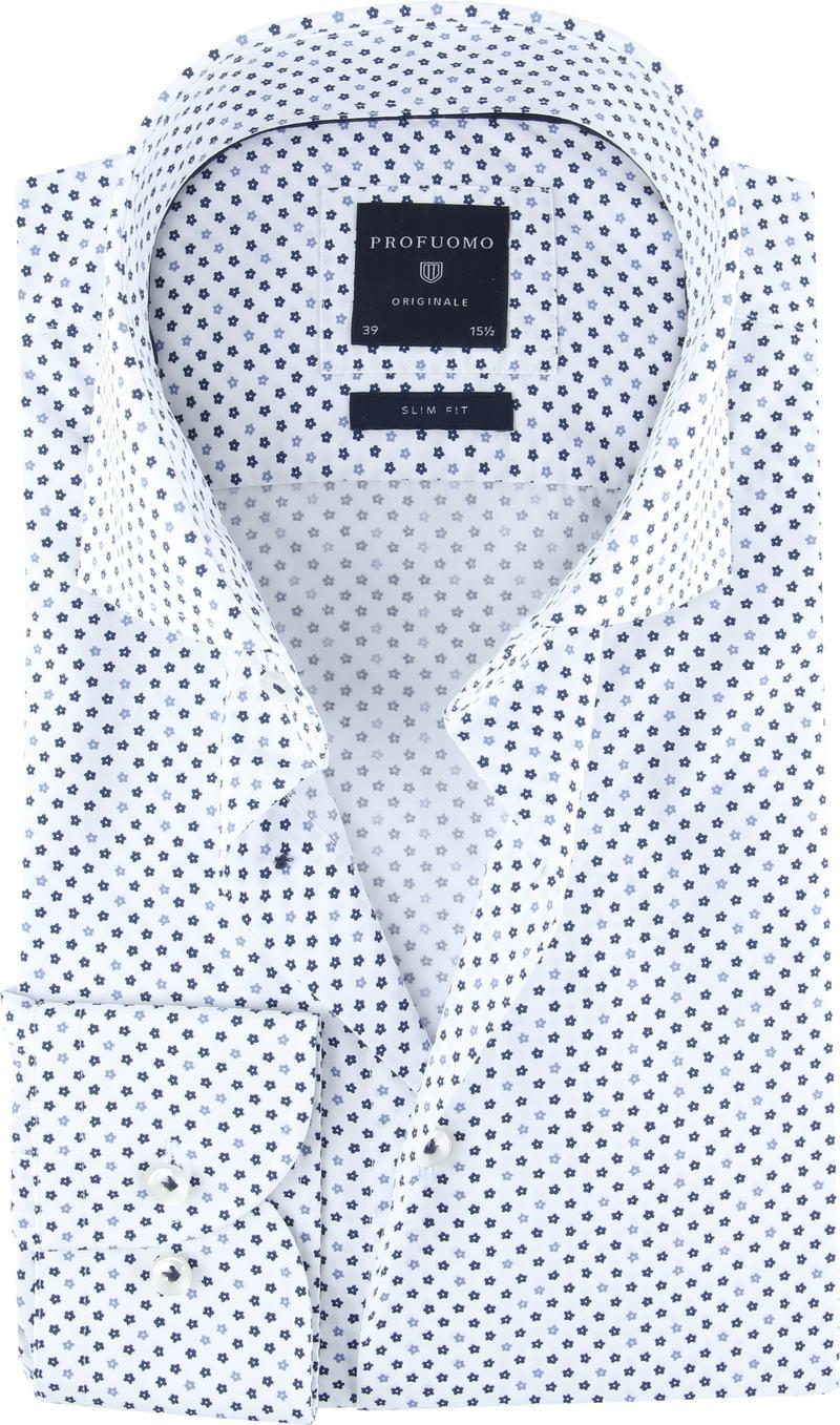 Profuomo Originale Overhemd Wit Print foto 0