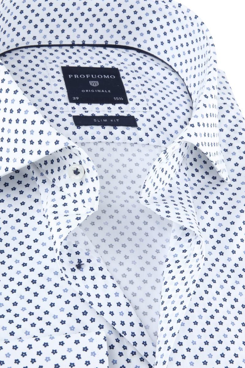 Profuomo Originale Overhemd Wit Print foto 1