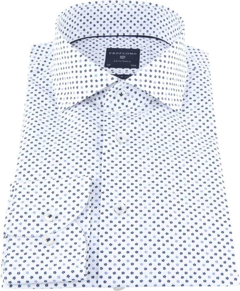 Profuomo Originale Overhemd Wit Print foto 2