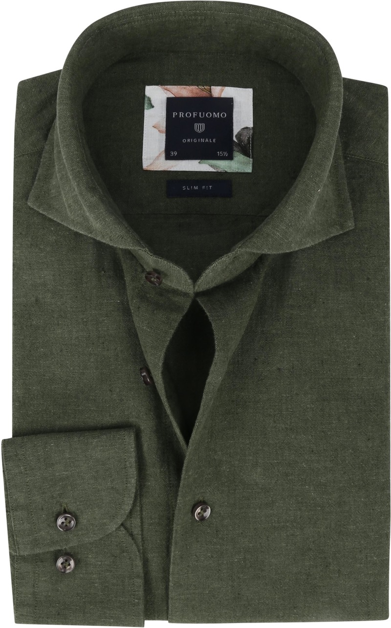 Profuomo Originale Overhemd X Donkergroen