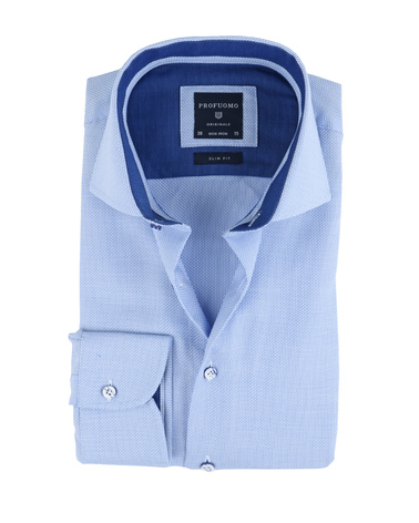 Profuomo Overhemd Blauw Non Iron  online bestellen | Suitable