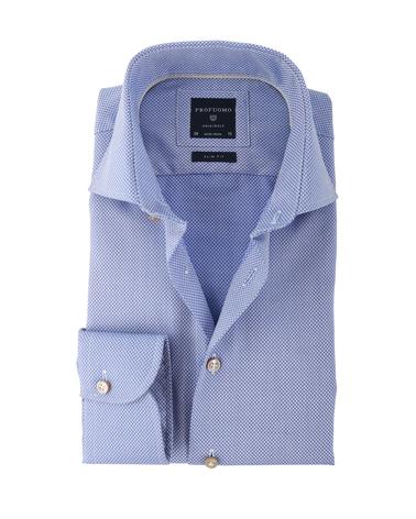 Profuomo Overhemd Blauw Patroon  online bestellen | Suitable