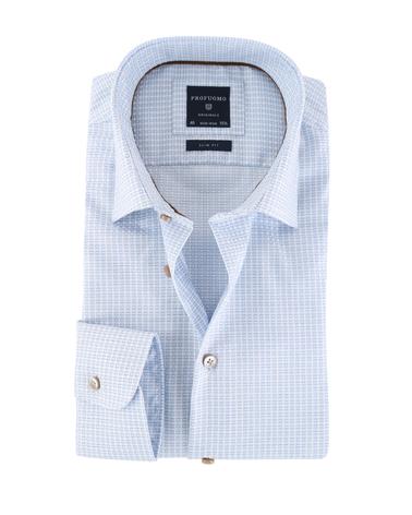 Profuomo Overhemd Blauwe Ruitjes  online bestellen | Suitable