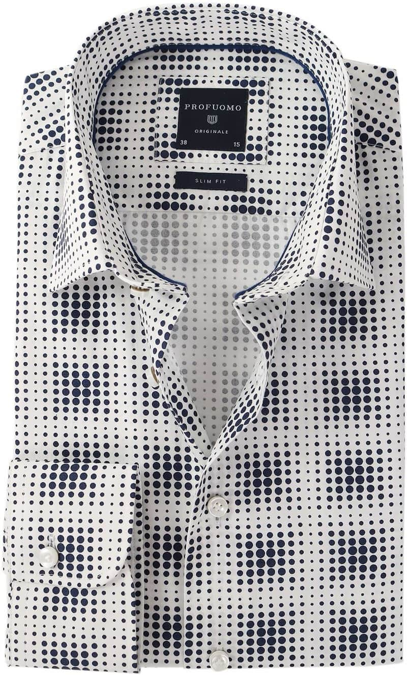 Profuomo Overhemd Donkerblauw Pinpoint  online bestellen | Suitable