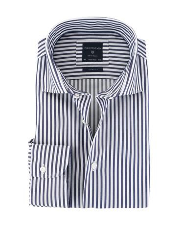 Profuomo Overhemd Donkerblauw Streep  online bestellen | Suitable