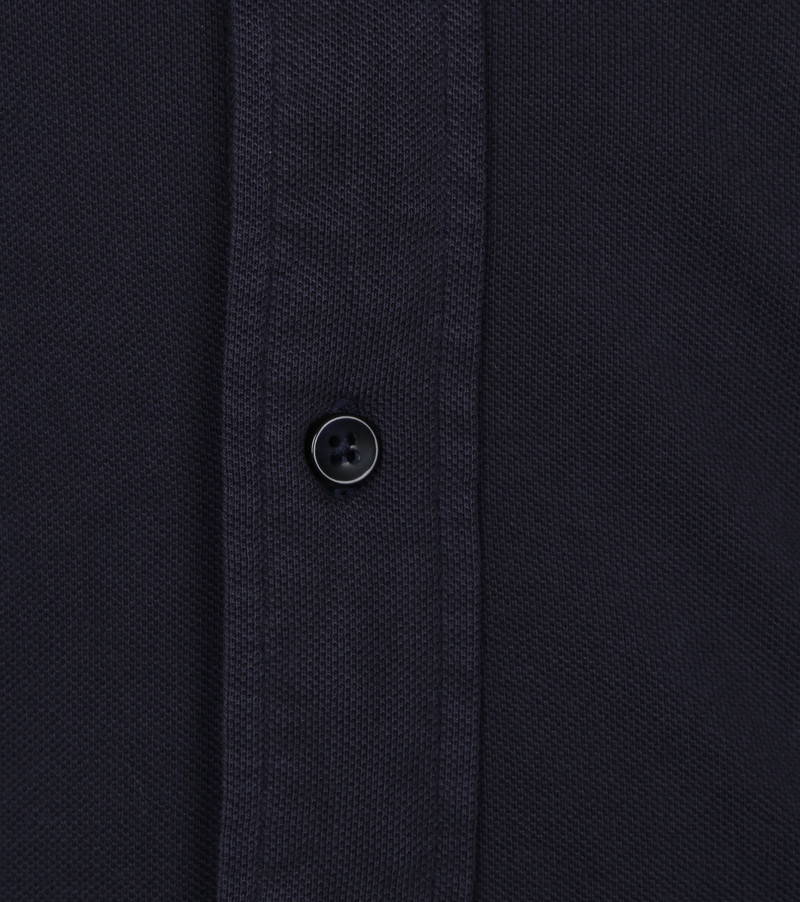 Profuomo Overhemd Garment Dyed Button Down Donkerblauw