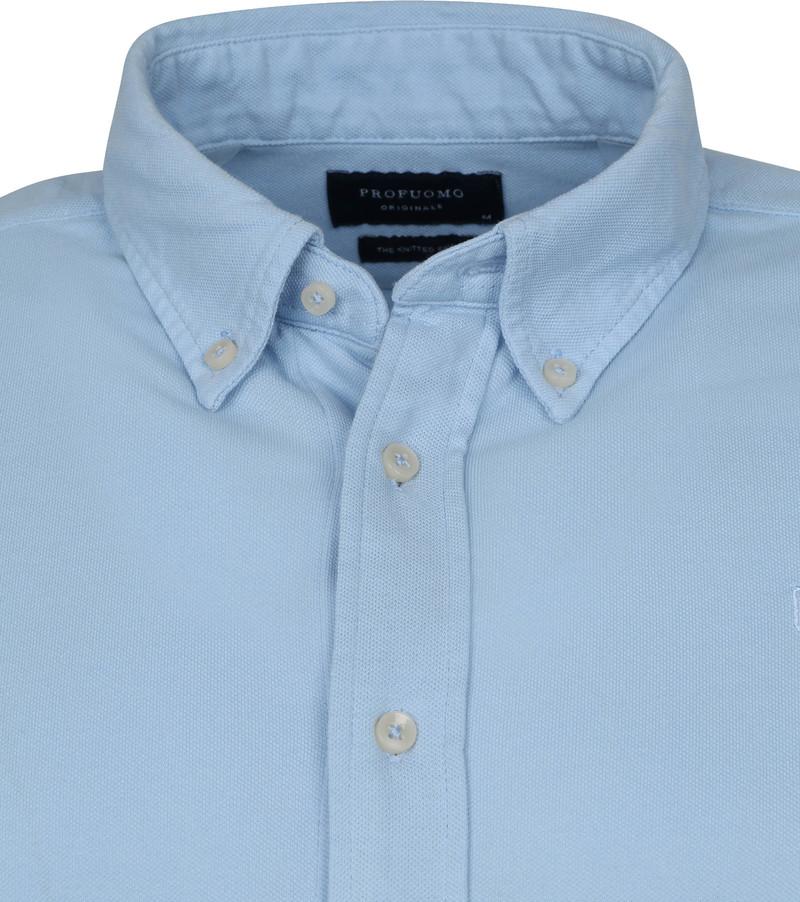 Profuomo Overhemd Garment Dyed Button Down Lichtblauw