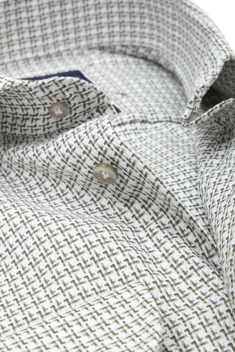 Profuomo Overhemd Groen Dessin foto 1