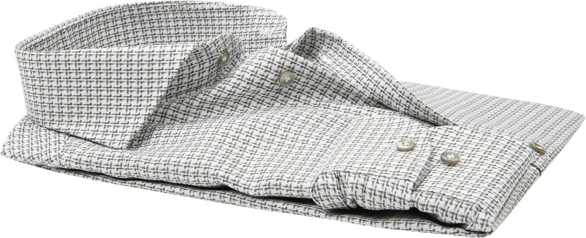 Profuomo Overhemd Groen Dessin foto 3