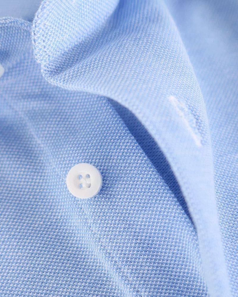 Detail Profuomo Overhemd Knitted Blauw