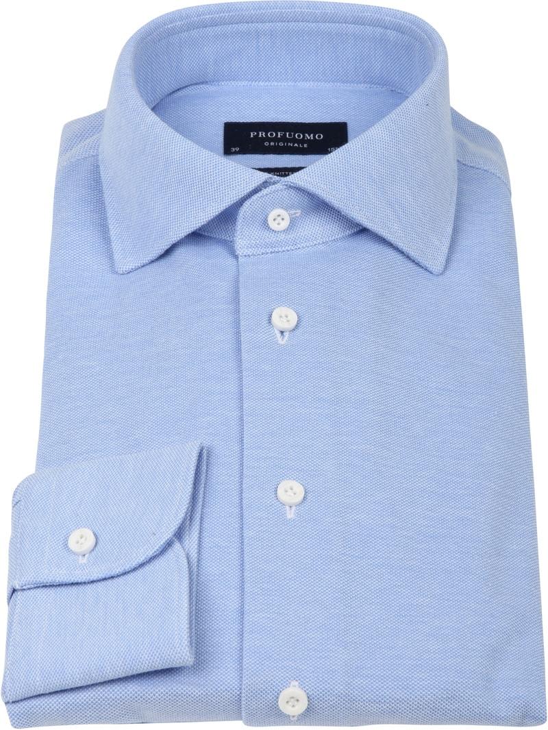 Profuomo Overhemd Knitted Blauw foto 2