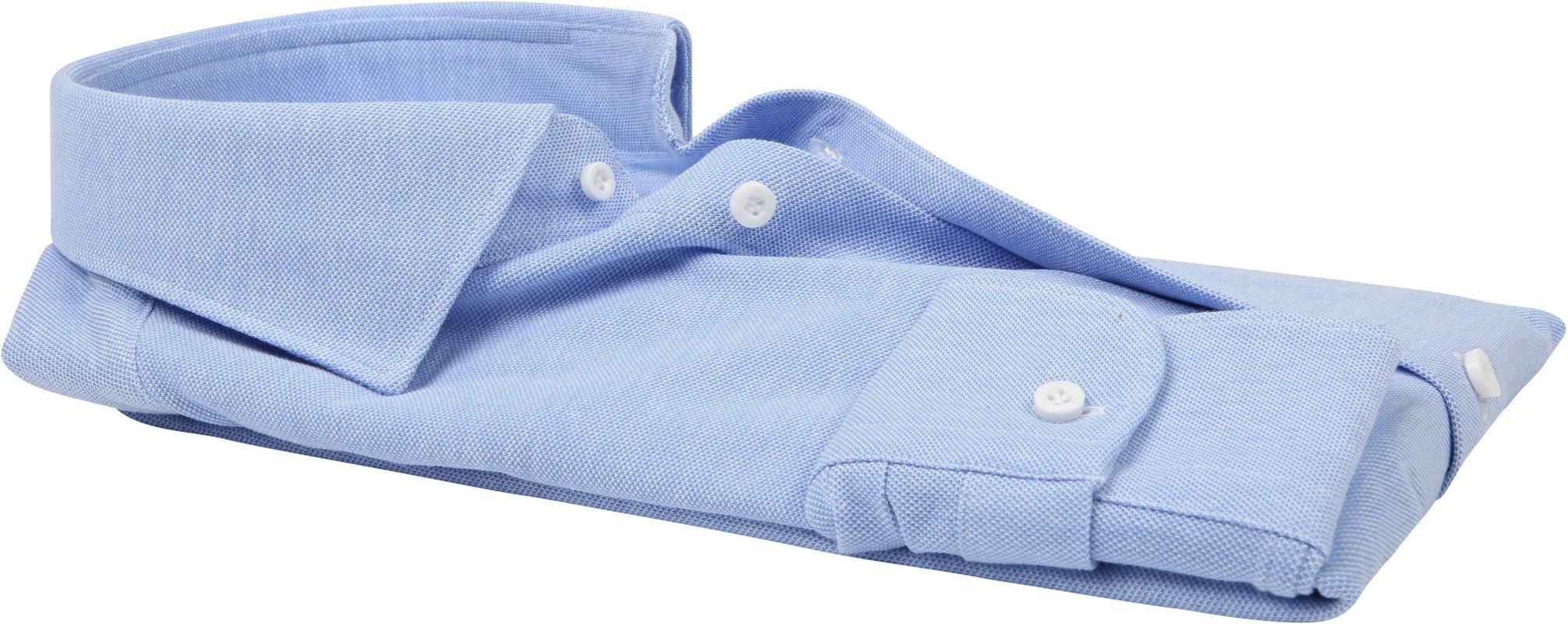 Profuomo Overhemd Knitted Blauw foto 3