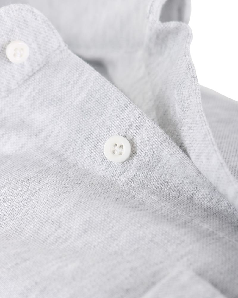 Detail Profuomo Overhemd Knitted Grijs