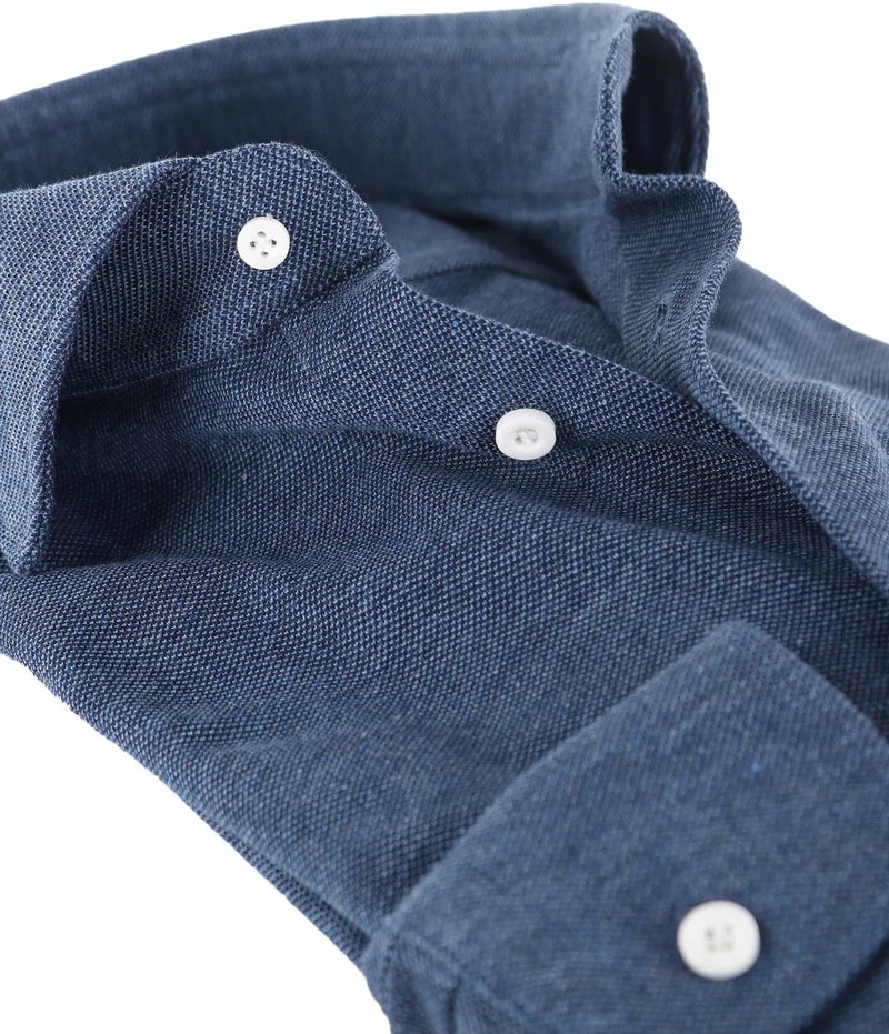 Profuomo Overhemd Knitted Indigoblauw foto 1