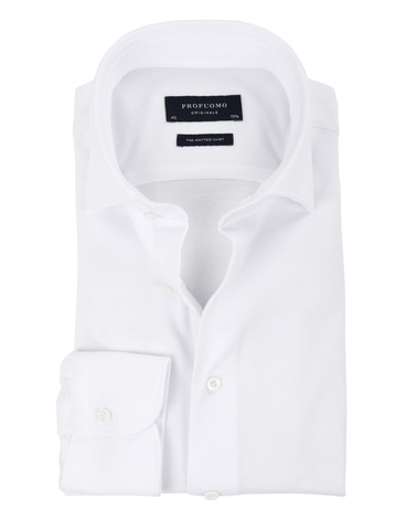 Profuomo Overhemd Knitted Wit WS
