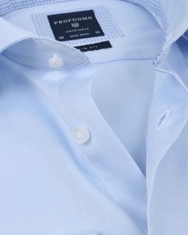 Detail Profuomo Overhemd Lichtblauw