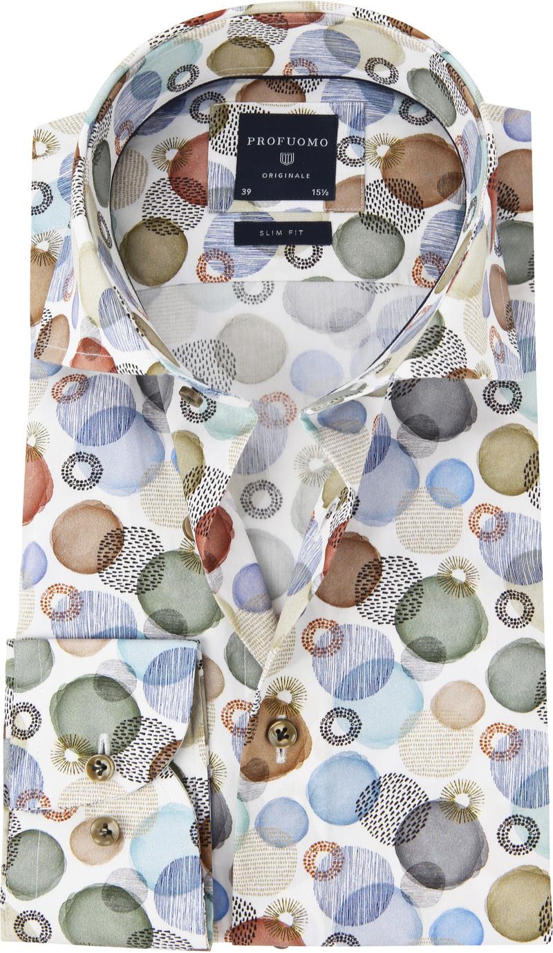 Profuomo Overhemd Polka Dot Multicolour foto 0