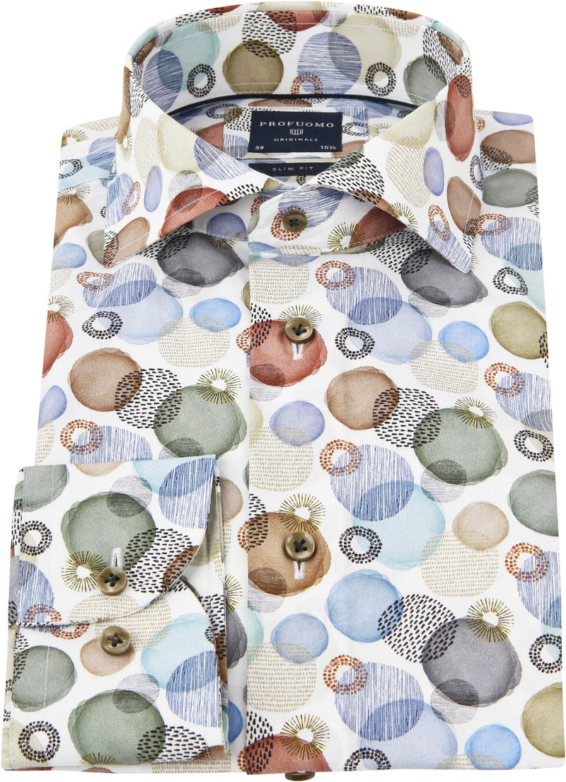 Profuomo Overhemd Polka Dot Multicolour foto 2