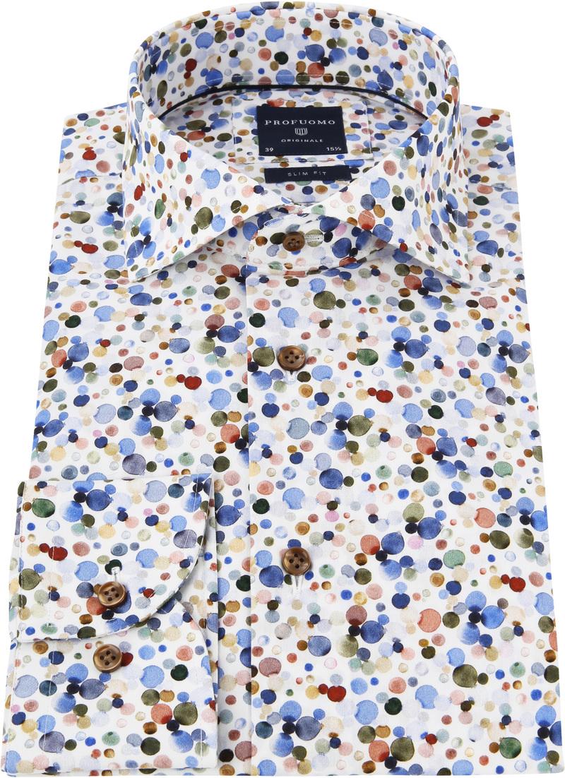 Profuomo Overhemd Polka Dot Print foto 2