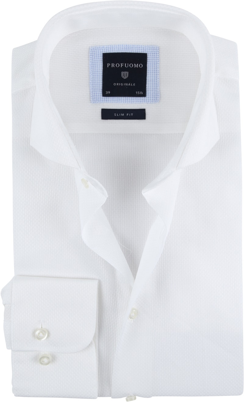 Profuomo Overhemd SF Ice Cotton Wit foto 0