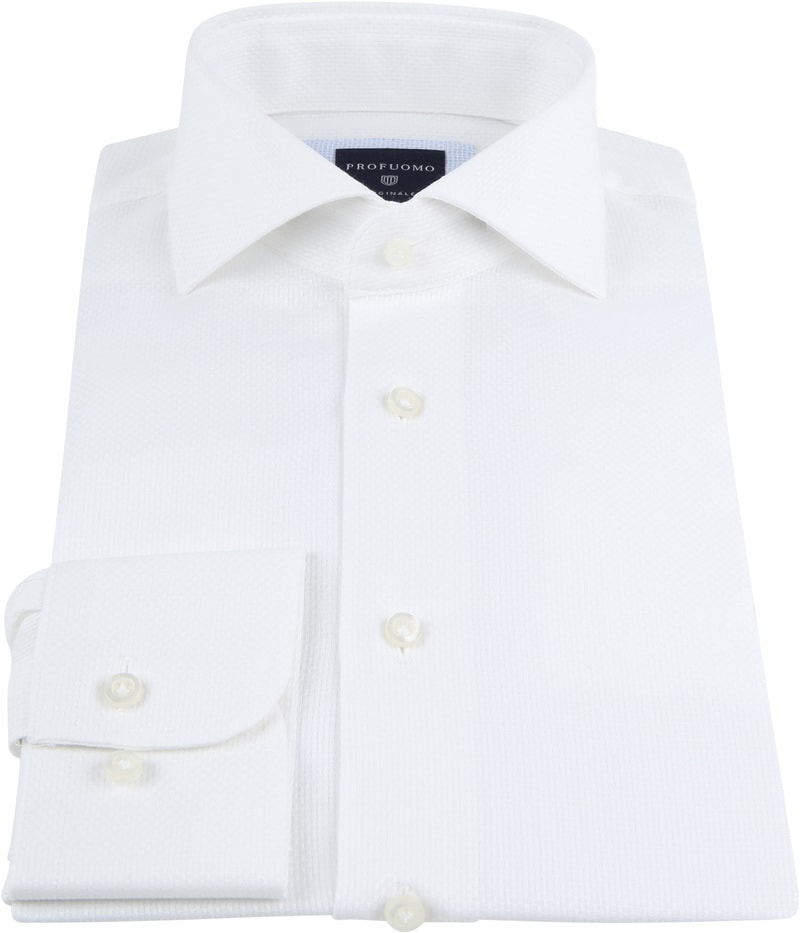 Profuomo Overhemd SF Ice Cotton Wit foto 2