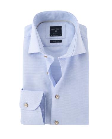 Profuomo Overhemd Strijkvrij Blauw  online bestellen | Suitable