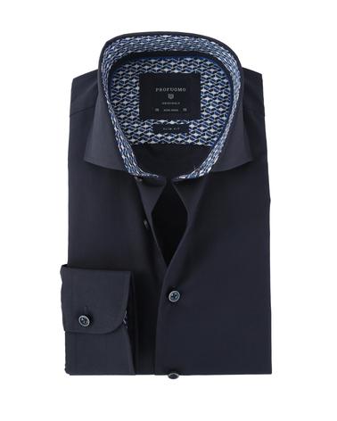 Profuomo Overhemd Strijkvrij Donkerblauw  online bestellen | Suitable