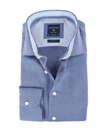 Profuomo Overhemd Strijkvrij Navy  online bestellen | Suitable