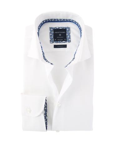 Profuomo Overhemd Strijkvrij Wit  online bestellen | Suitable
