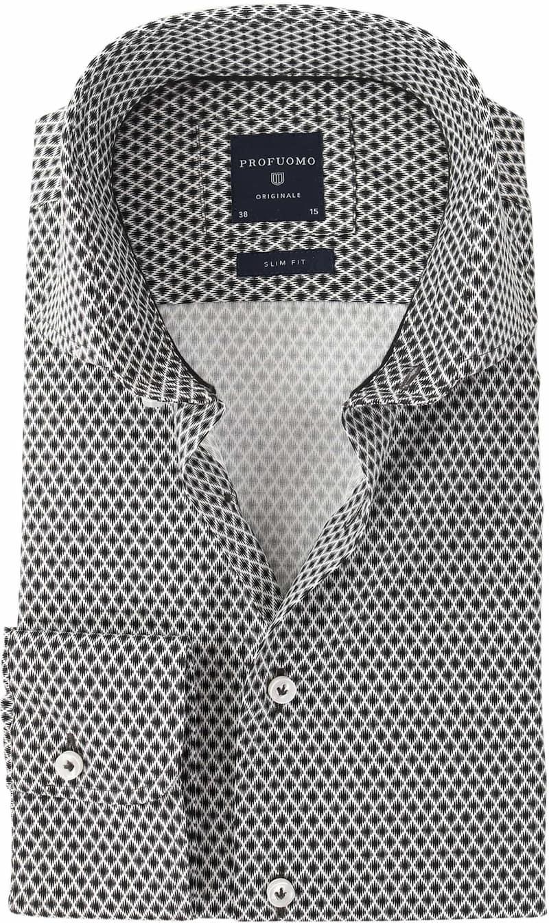 Profuomo Overhemd Zwart Dessin  online bestellen   Suitable