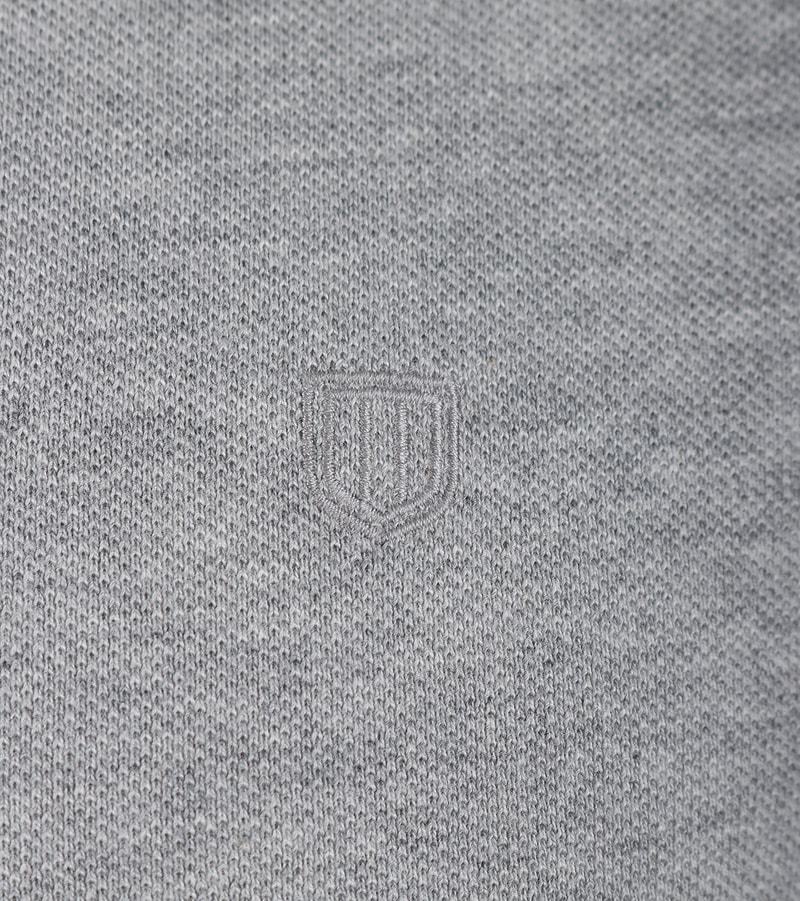 Detail Profuomo Poloshirt Grijs